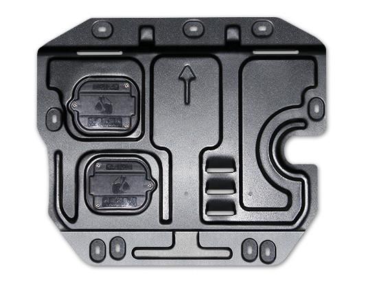 Защита двигателя (марганцевая сталь) для Санта Фе 4 (Hyundai Santa Fe 2018 - 2019) защита на низ сидений надись hyundai chn для санта фе 4 hyundai santa fe 2018 2019