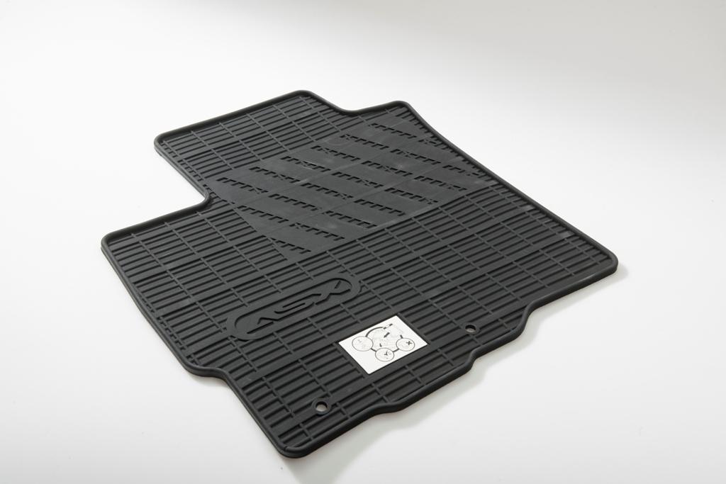 накладки на боковые зеркала с повторителем хром mitsubishi mz569195ex для mitsubishi asx 2016 Коврики в салон Mitsubishi резина черный MZ314439 Mitsubishi ASX (1G) рест.2 2016-