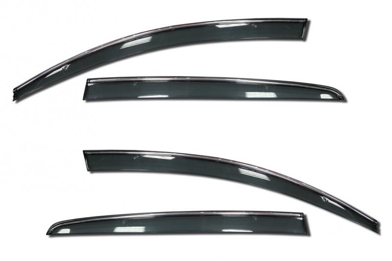 Фото - Дефлекторы окон с хромированным молдингом Cobra Tuning C42012CR для Citroen C4 Седан 2010- дефлекторы окон с хром молдингом cobra tuning hyundai santa fe 4g 2018