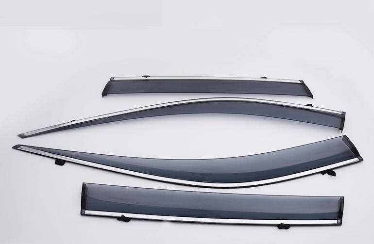Дефлекторы окон с хром молдингом для Toyota RAV4 ( Тойота РАВ4 ) 2019 -