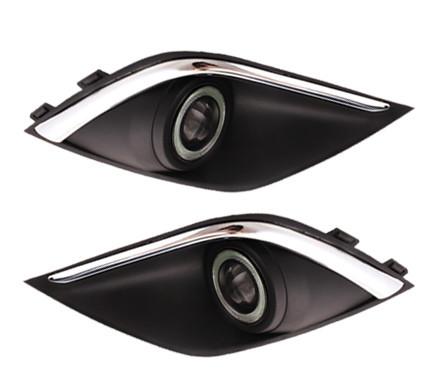 диодные лампы в передние фары led для mitsubishi outlander 3 Противотуманные LED-фары в сборе для Mitsubishi Outlander 3 (2011 - 2014)
