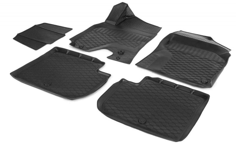 Коврики в салон Rival полиуретан черный 10903002 Chery Tiggo 3 (1G) 2014-