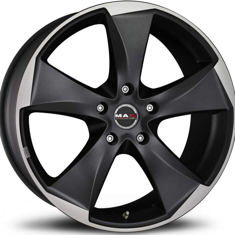 Диск колесный MAK Raptor 5 9,5xR20 5x120 ET35 ЦО76 черный матовый с полированной лицевой частью F9520RTID35I