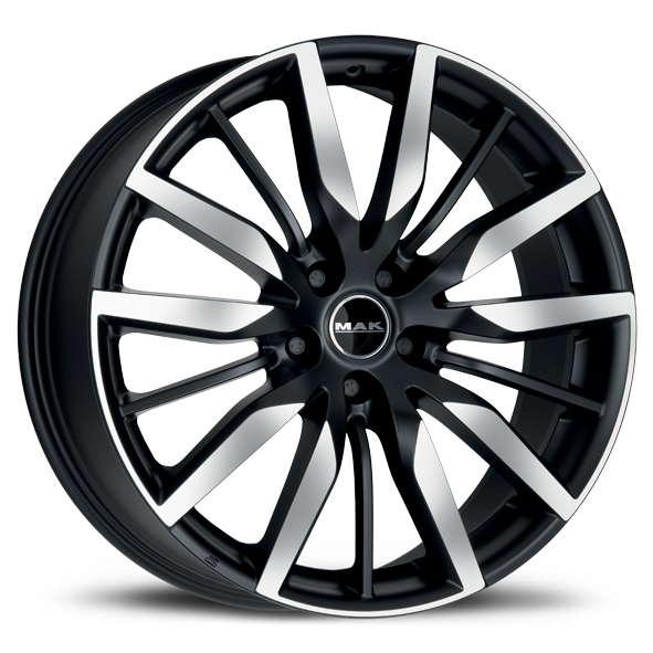 Диск колесный MAK Barbury 8,5xR20 5x108 ET45 ЦО63,4 черный матовый с полированной лицевой частью F8520BYIB45GD3X