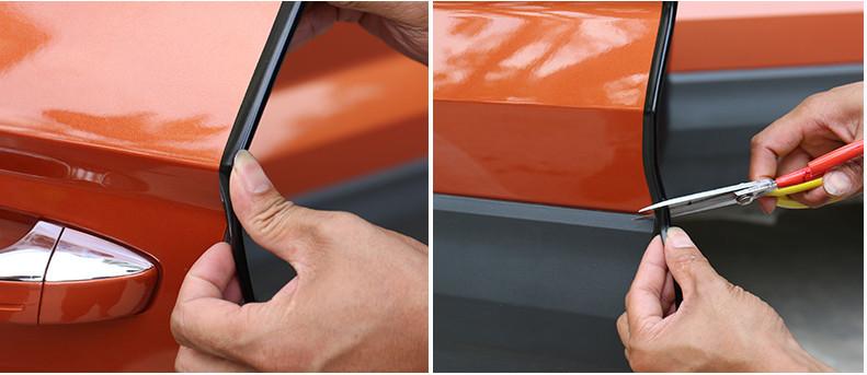 Дверной уплотнитель Skoda Karoq 2020 (Шкода Карок) защита на 2 й ряд цвет черный коричневый надпись karoq chn skoda karoq 2020 шкода карок