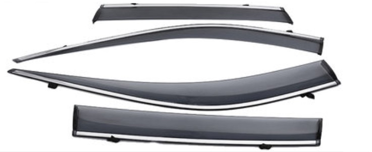 Дефлекторы окон черные Toyota RAV4 2019-