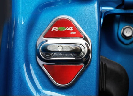 Комплект накладок на дверные замки Toyota RAV4 2019- стеллажи 1 дверные