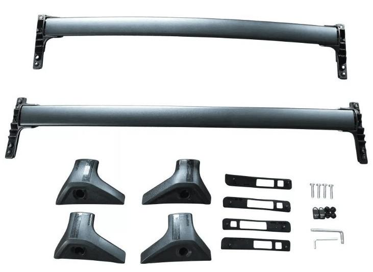 Поперечины на крышу (черный / серебро) GPPower CHN для Toyota RAV4 new (Тойота РАВ4) 2019 + корзина багажная на крышу black mamba chn для toyota rav4 new тойота рав4 2019
