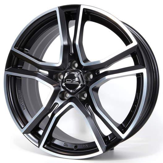 Диск колесный OZ Adrenalina 8xR17 5x112 ET35 ЦО75 черный матовый с полированной лицевой частью W8501420254