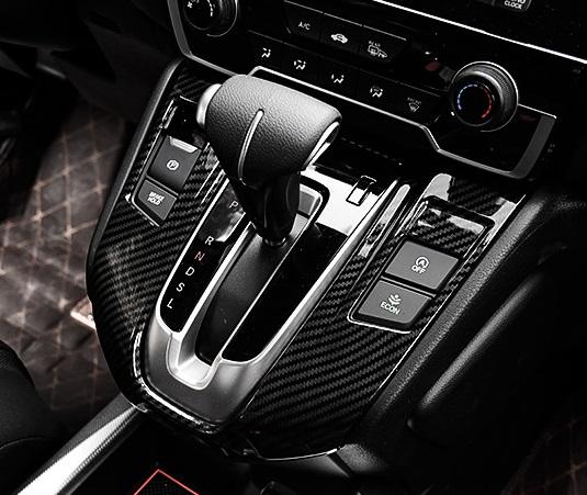 Накладка на панель передач (карбон) для Honda C-RV 2017-