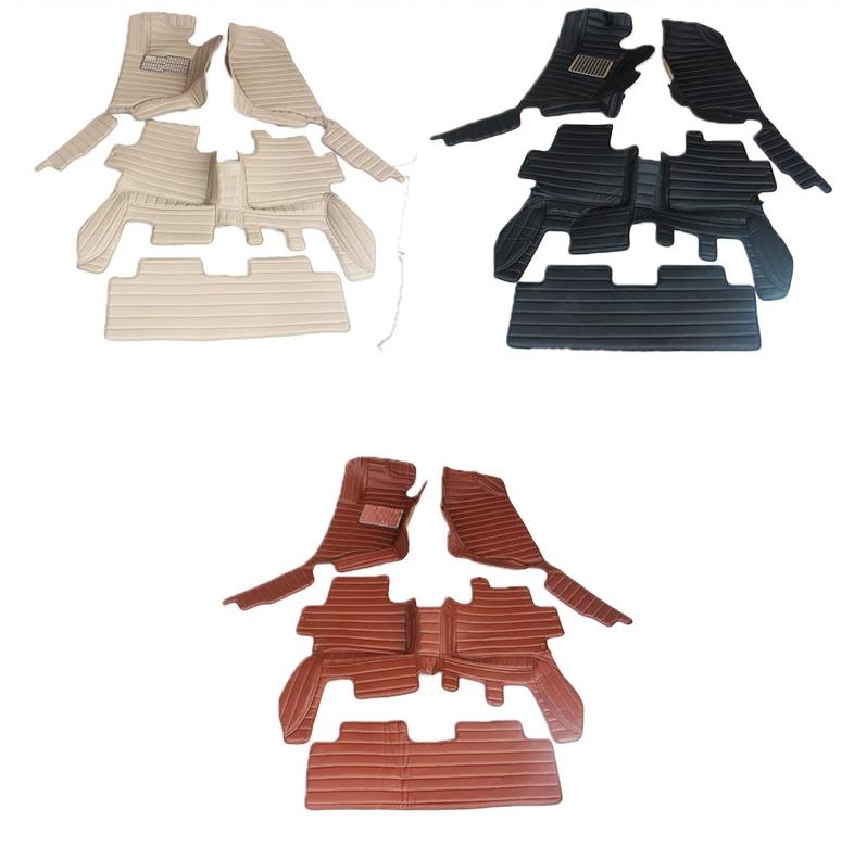 Коврики в салон 3D кожаные для Mitsubishi Pajero Sport (2008 - 2016)