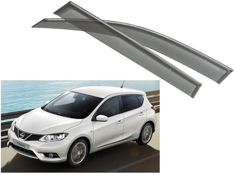 Дефлекторы на окна NOBLE Chrome для Nissan New Tiida C13R 2015 -