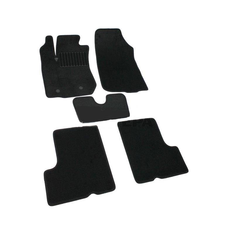 Коврики салона текстильные, чёрные SV-Design 4114-UNF3-15P для Renault Duster 2011-