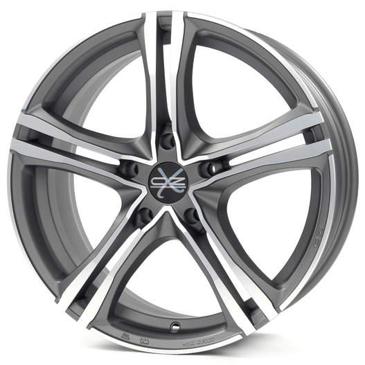 Диск колесный OZ X5B 7,5xR17 5x120 ET29 ЦО79 серый темный матовый с полированной лицевой частью W85068206KN5