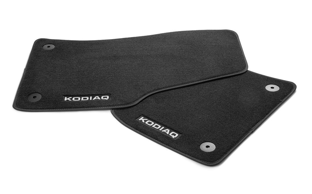 Коврики салона текстильные Genuine Part для Skoda Kodiaq (2017 - по н. в.) коврики в салон 3d кожаные для skoda kodiaq 2017 по н в