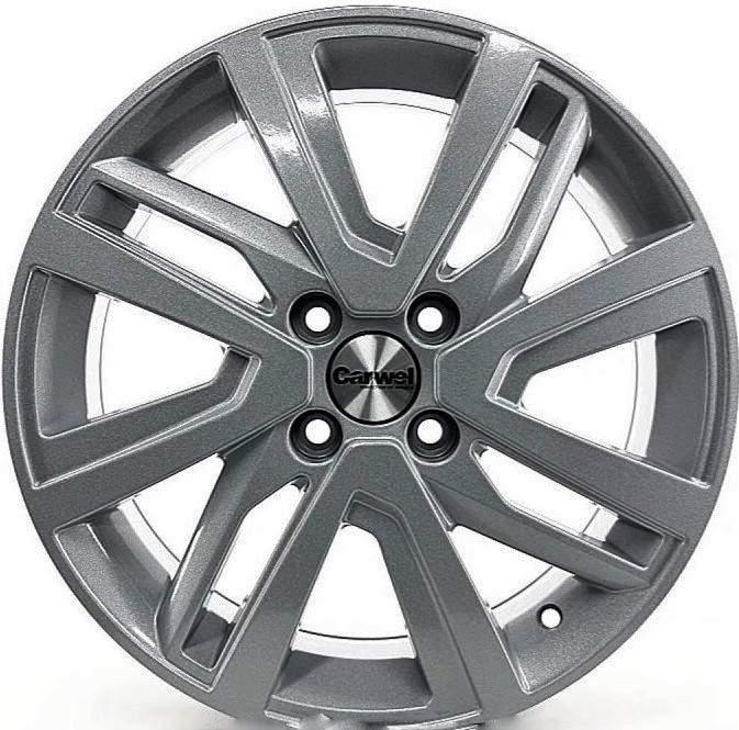 Диск колесный Carwel Таймыр 1609 6xR16 4x100 ET46 ЦО54,1 серебристый темный 97180