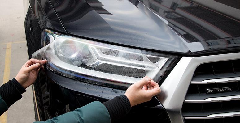 Защитная пленка на передние фары для AUDI Q7 2016 - брызговики передние и задние для audi q7 2016