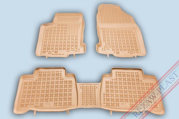 Коврики в салон Rezaw-Plast резина бежевый 202407 Lexus NX 2014-