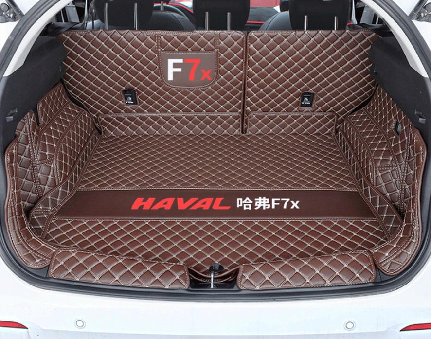 Фото - Коврики в багажник кожаные для Haval F7X (Хавал Ф7Х) 2019 + молдинг боковых окон хром для haval f5 хавал ф5 2019