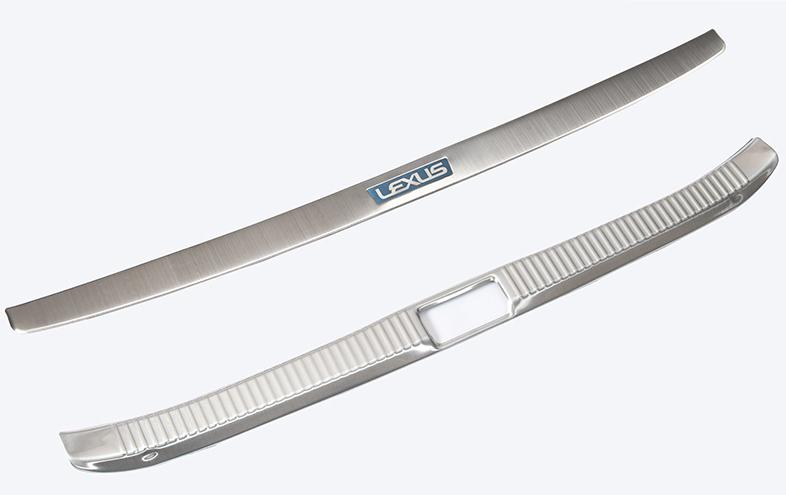 Защитные накладки на задний бампер для Lexus ES 2012 -