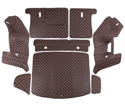 Коврики в багажник 8 элементов (полиуретан, коричневые) Honda CRV 2020-