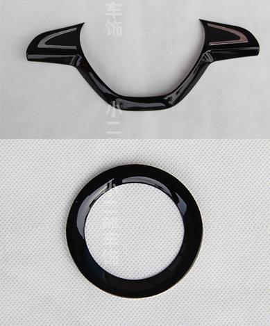 Накладки на руль глянцевые черные для RAPID глянцевые стенки