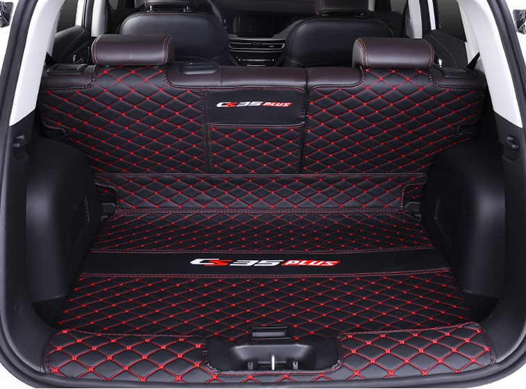 Фото - Коврик для багажника (черный с красным) 3 элемента для Changan CS35 Plus 2019- коврик для багажника черный с красным 2 элемента для changan cs35 plus 2019