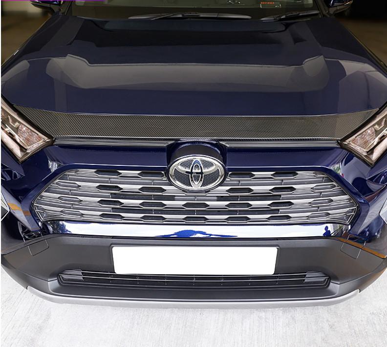 Фото - Дефлектор капота (черный карбон) CHN для Toyota RAV4 new (Тойота РАВ4) 2019 + дефлектор капота sim для toyota camry 2018