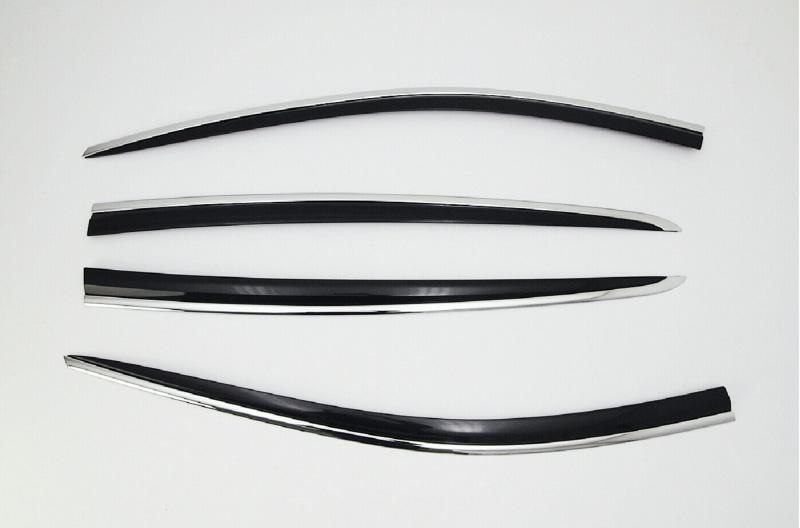 Дефлекторы боковых окон (с хром. молдингом) COBRA-TUNING K14715CR KIA Sportage 2016 -