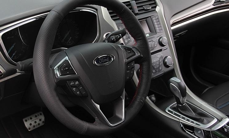 оплетка руля для ford ecosport 2013 2018 Кожаная оплетка руля для Ford Mondeo ( 2014 - по н.в. )