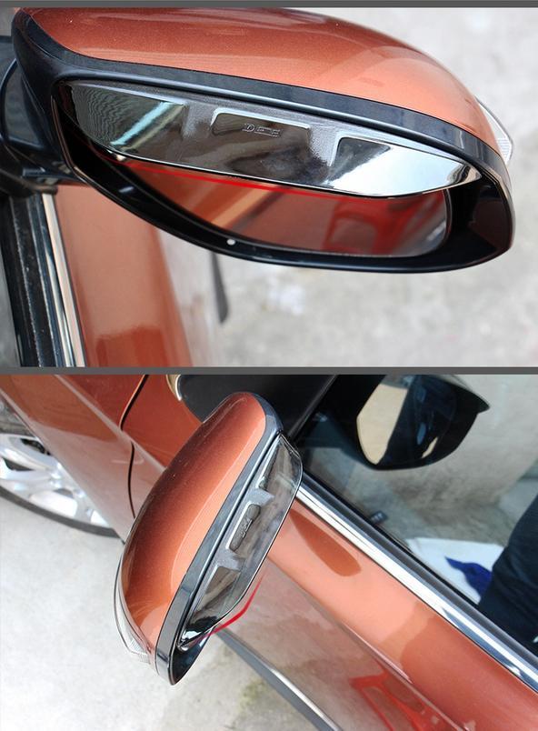 накладки на боковые зеркала хромированные chn для mitsubishi outlander 2012 2018 Козырьки на боковые зеркала, защитные для Mitsubishi Outlander 2012 - 2018