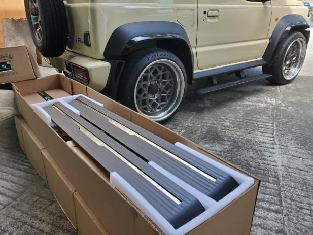 Автоматические боковые подножки, пороги для Suzuki Jimny 2019 - силовой бампер perks для suzuki jimny 2019