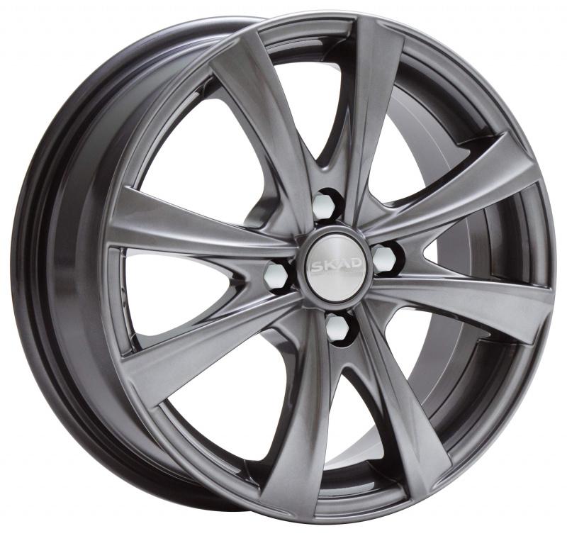 Диск колесный СКАД Мальта 5,5xR14 4x98 ET38 ЦО58,6 серый тёмный матовый 2140027