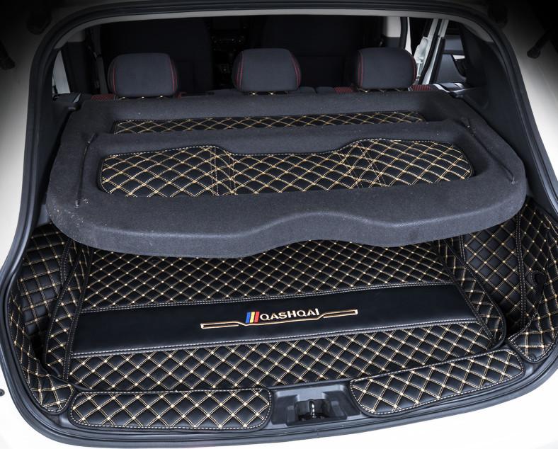 3d обшивка нижней части сидений кожаная nissan qashqai 2019 3D обшивка в багажник (кожаная, с нахлестом на спинки сидений) Nissan Qashqai 2019 -