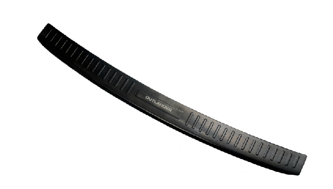 накладка на порог багажника и задний бампер нержавеющая сталь для mitsubishi outlander 3 2011 2014 Накладка на задний бампер BLACK (черная) для Mitsubishi Outlander 3 (2011 - 2018)