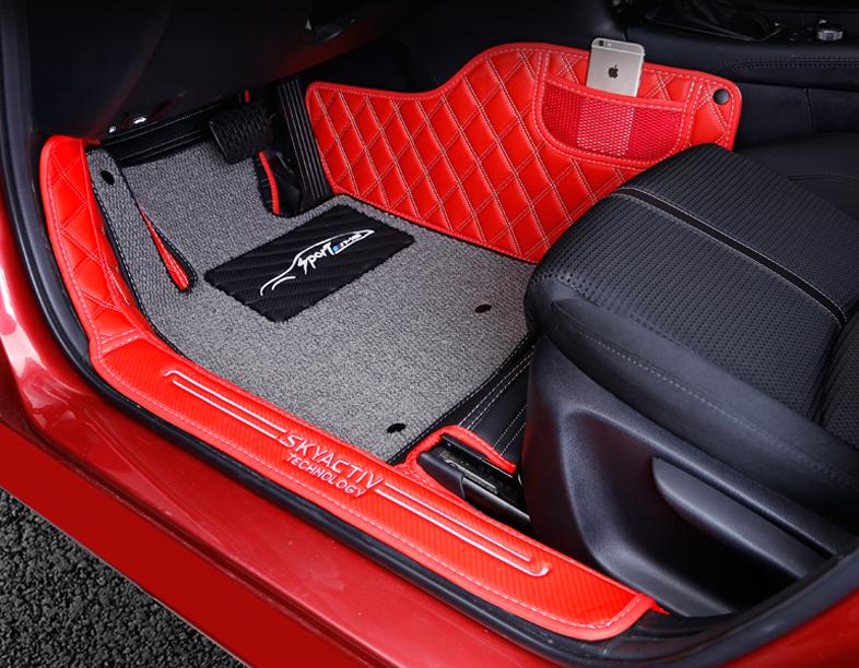 Фото - Коврики в салон 3D кожаные Axela для Mazda 3 2013-2017 коврики в салон 3d кожаные для mazda cx 5 2017