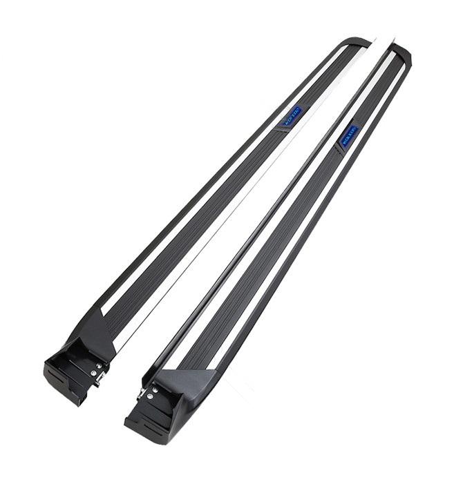 накладки на дверные пороги с led подсветкой bnx170249 для renault koleos 2017 Боковые подножки, пороги с LED-подсветкой (алюминиевый профиль) для Renault Koleos 2017 -