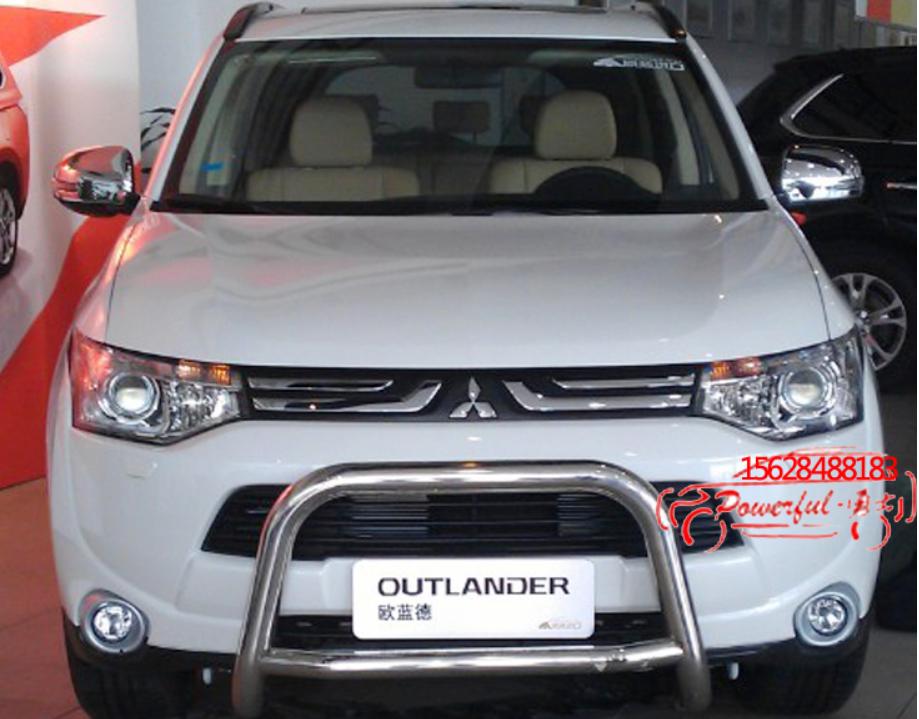 оплетка ручника mitsubishi outlander 2012 Передняя защита бампера, кенгурятник CHN для Mitsubishi Outlander 2012 - 2014