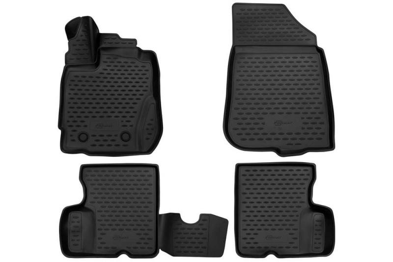 Коврики 3D в салон (черный полиуретан) Format FORMAT.3D.41.40.210k Renault Duster 2015-