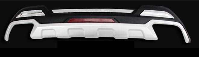 Защитная накладка на задний бампер CHN для Санта Фе 4 (Hyundai Santa Fe 2018 - 2019) накладка на задний стоп сигнал цвет надписи красный белый корея для санта фе 4 hyundai santa fe 2018 2019