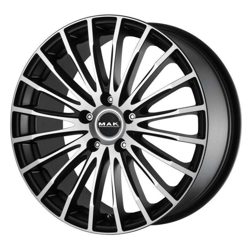 Диск колесный MAK Fatale 8,5xR19 5x120 ET35 ЦО72,6 черный матовый с полированной лицевой частью F8590FAIB35IIB