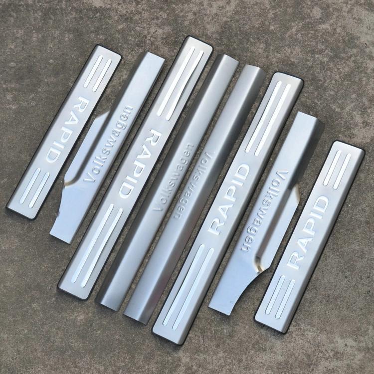 накладки на пороги внешние lux для mitsubishi outlander 2012 2019 Накладки на пороги (внутренние и внешние) для Skoda Rapid 2012 -