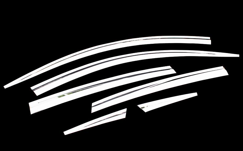 Фото - Дефлекторы на окна хромированные для Toyota RAV4 (2013 - 2015) защита картера и кпп автоброня для toyota rav4 2010 2013 2013 2015 2015 н в сталь 2 мм 111 05709 1