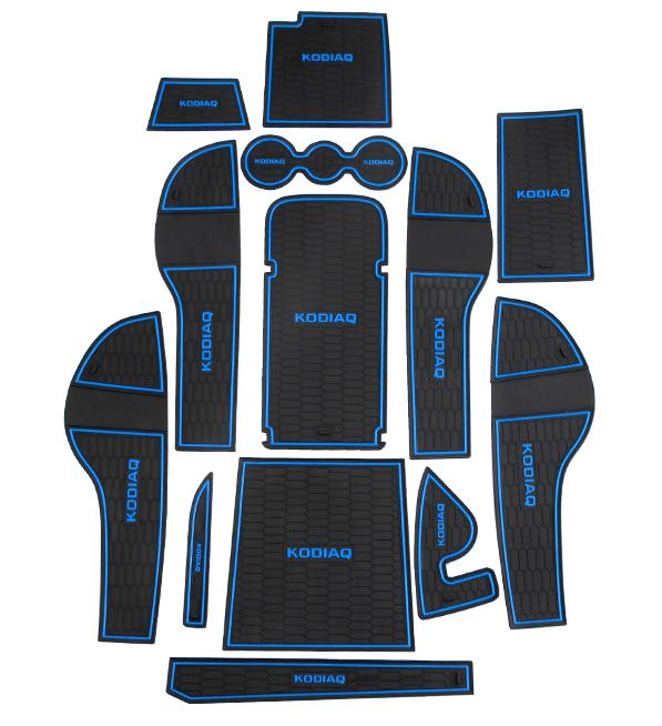 Коврики в салонные ниши для SKODA Kodiaq (2017 - по н. в.) коврики в салон 3d кожаные для skoda kodiaq 2017 по н в