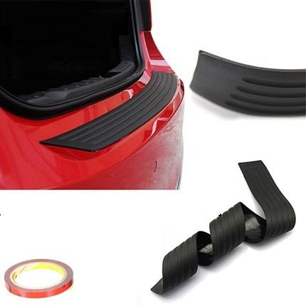 Защитная накладка резиновая на задний бампер CROSS для KIA Rio X-Line 2017 - защитная наклейка на задний бампер chn для kia rio 2017