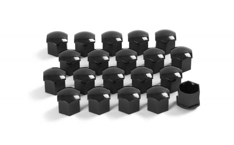Колпачки на колесные болты (черный глянец) 1Z00712159B9 для Skoda Rapid 2020 -