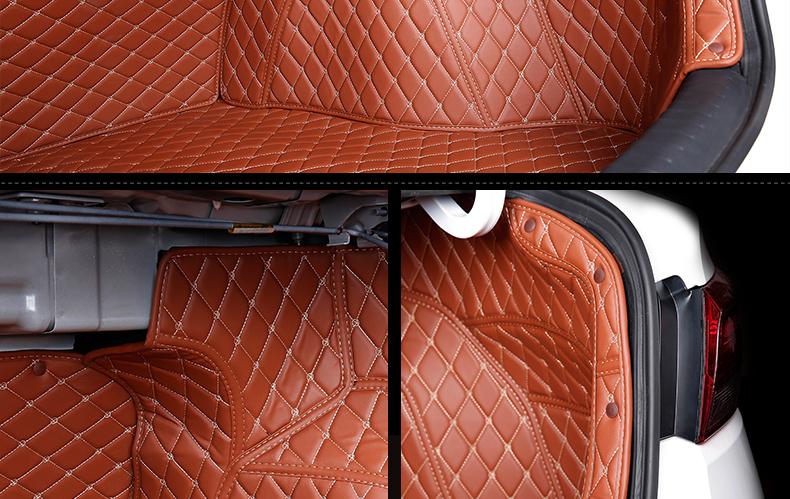 Кожаные коврики all-inclusive в багажник для KIA RIO K2 2018