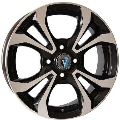 Диск колесный Venti 1504 6xR15 4x100 ET46 ЦО54,1 черный с полированной лицевой частью rd832360