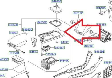 Накладка на консоль КПП для Hyundai i40 2013 -
