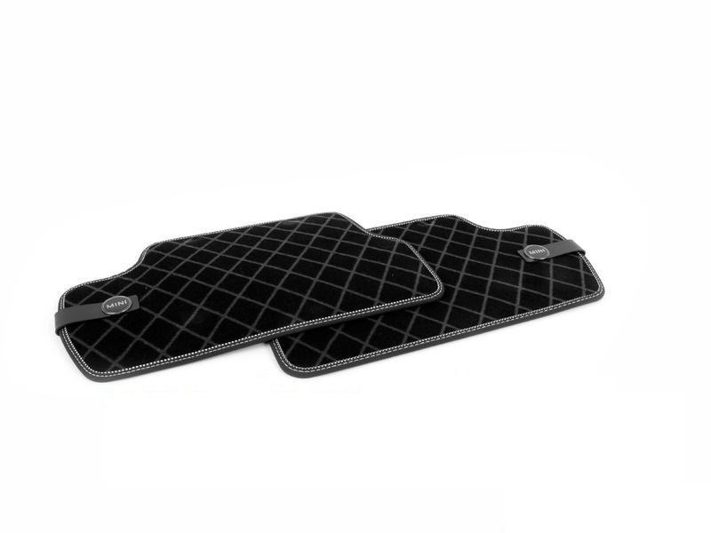 Коврики в салон задние Mini велюр черный 51472354176 Mini Cooper 2015- коврики в салон передние mini велюр синяя клетка 51472354172 mini cooper 2015